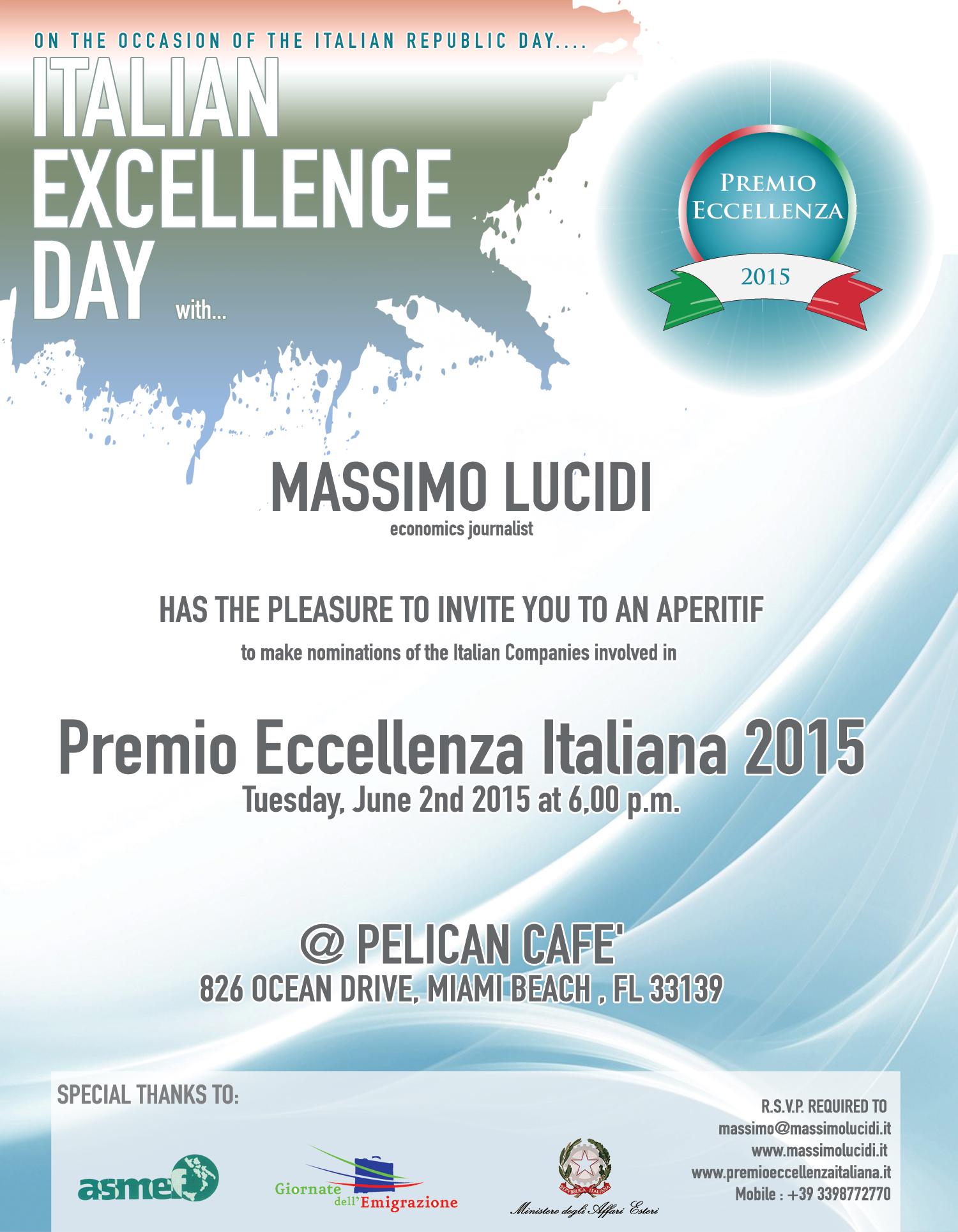 Italian Excellence Day – 2 Giugno 2015 – Miami