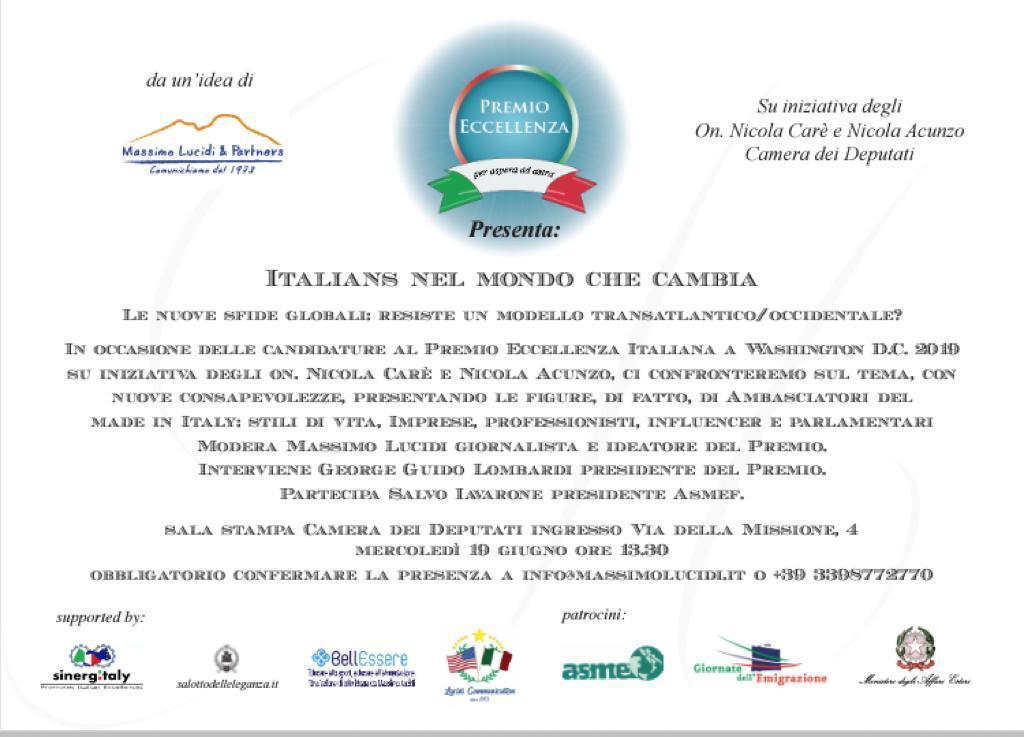 Italians e le nuove sfide globali presentazione alla for Camera dei deputati italiana